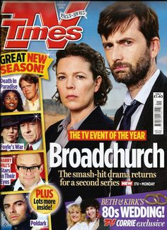 BROADCHURCH: David Tennant In TV Times Magazine