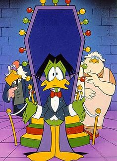 Count Duckula. After appearing as a villain in Danger Mouse, the veggie vampire got his own show.
