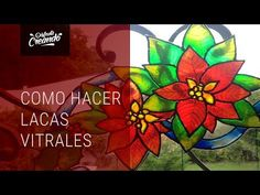 Como Hacer Lacas Vitrales con Dimensional Cristal - YouTube Stained Glass, Origami, Decoupage, Art Projects, Burlap, Applique, Mandala, Miniatures, Crafty