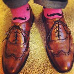 Moustache socks.... #need