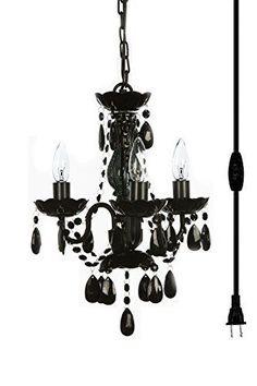 black chandelier lighting. the original gypsy color 3 light mini plugin black chandelier metal frame with acrylic crystals lighting
