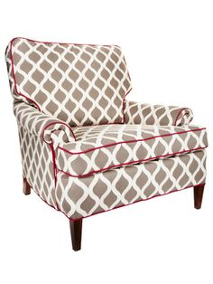This chair wasn't always a cute gray and white with fuchsia trim. See the transformation http://www.hgtv.com/decorating-basics/rehabbed-and-reupholstered-chairs/pictures/page-8.html?soc=pinterest#