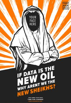 """Free Your Data Illustration. """"If Data Is The New Oil, Why Aren't We The New…"""