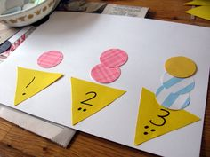 toddler math projects image | ice cream counting 1024x768 Hands on Math for Preschool: The Letter I