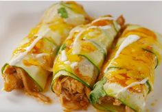 Low Carb Chicken Zucchini Enchiladas: See Full Recipe and Instructions. You don't just want to start on a whole zucchini; halve it lengthwise, then peel strips.