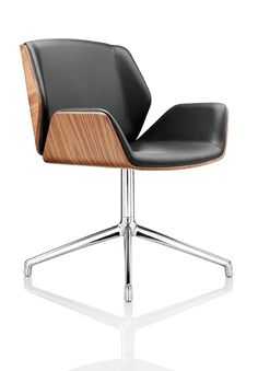 Going to get one in wood with white leather. Boss Design - Kruze Chair