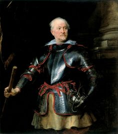 Anthony van Dyck (1599-1641) - Portrait of a man in armor (member of the Spinola family) circa 1621-2. Cincinnati Art Museum