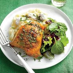 Roasted Chicken Thighs with Herb Butter | MyRecipes.com