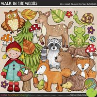 Walk in the Woods - forest animal digital scrapbook elements / cute woodland creatures clip art! Hand-drawn illustrations for digital scrapbooking, crafting and teaching resources from Kate Hadfield Designs. Forest Creatures, Woodland Creatures, Forest Animals, Woodland Animals, Woodland Forest, Woodland Nursery, Cool Coloring Pages, Free Coloring, Digital Stamps