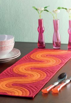 12 best table runner patterns images on pinterest in 2018 table groovy late 1960s inspired table runner sew this opt art runner using applique watchthetrailerfo