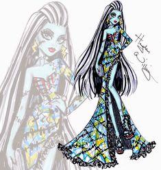 Hayden Williams Fashion Illustrations: Monster High 'All Stitched Up' Frankie Stein by Hayden Williams