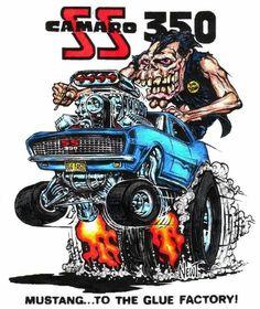 ☮ Art by Ed Roth ~ Rat Fink! ~ ☮レ o √乇 ❥ L❃ve ☮~ღ~*~*✿⊱☮ --- drawn by ed newton Cartoon Car Drawing, Cartoon Pics, Cartoon Art, Rat Fink, Chevrolet Bel Air, Weird Cars, Cool Cars, Rat Rods, Ford Modelo T