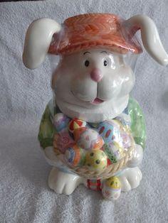 NEW, EASTER BUNNY COOKIE JAR. | eBay!