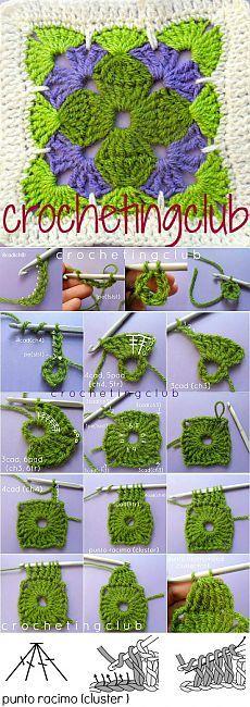 Crochet: Clover Granny Square