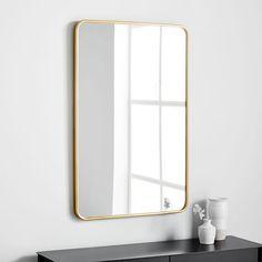 West Elm Modern Streamline Wall Mirror Look for Less Decor Interior Design, Interior Decorating, Decorating Tips, Modern Floor Mirrors, Mirror Wall Art, Mirror Hanging, Bathroom Hardware, Home And Deco, Bathroom Furniture