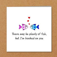 PLENTY of FISH Dating App Card for Anniversary, Birthday or Valentine's Day card. Girlfriend boyfriend - Bumble Bee Date