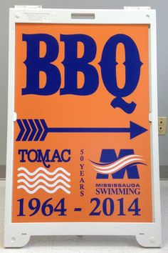 MMMM....where is the BBQ? Follow the sandwich board signage done by Speedpro Imaging Erin Mills!