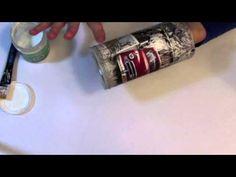 Video Tutorial - Decoupage krok po kroku - naklejanie na walcach - decoupage, krok, kroku, naklejanie, tutorial, video, walcach