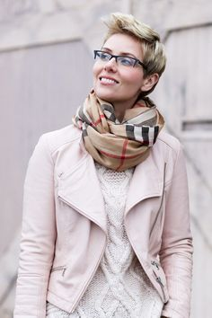 Although I love my Burberry scarf, I preferred the outfit without it.