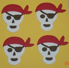 12 Pirate Skull Die Cuts for Scrapbooking Cards and Paper Crafts. $2.50, via Etsy.