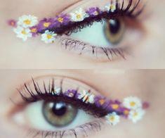 floral cateye eyeliner