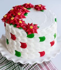Creating a Christmas inspired Checkerboard Cake is a really fun way to delight friends and family! To make this cake you will need: Four cakes 8-inch round cakes leveled. (One red, one white, one dark green, and one light green. You can use a white cake recipe doubled or 2 boxes of white cake mix.)...