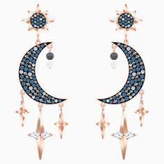 Take style inspiration from the mystical night sky this season with this statement-making pair of pierced earrings. Featuring moon and star motifs, which symbolise hopes Find out more Plugs Earrings, Heart Earrings, Pierced Earrings, Crystal Earrings, Tourmaline Jewelry, Mystique, Watermelon Tourmaline, Raw Diamond, Sterling Silver Cross