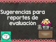 Sugerencias para los reportes de evaluación (1)