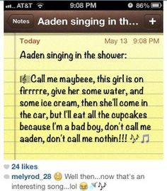 Um...how old is he exactly? Cause it'll just be wierd if he's like 14 and singing songs like that.