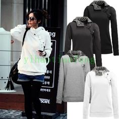 Womens Long Sleeve Hooded Sweatshirt Sport Sweater Leisure Coats Pullover Vogue