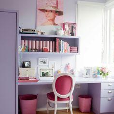 Teen Vogue room ideas - simple desk size/setup