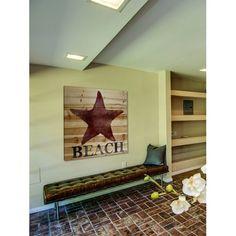 'Starfish Beach' Painting Print on Natural Pine Wood #birchlane