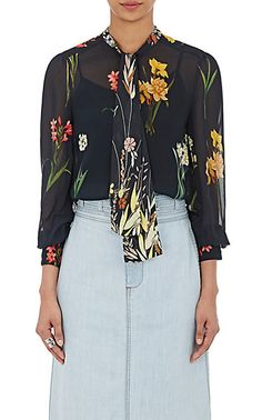 We Adore: The Floral Tieneck Blouse from Warm at Barneys New York