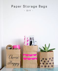 DIY Paper Storage Bags - Not Washable - By Patchwork Cactus Blog