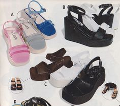 65c6292b04de You didn t have to decide whether you were a wedge or a platform person. 90s  Shoes90s NostalgiaEarly 2000s Fashion90s ...