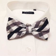 Black and White Plaid Bow Tie from The Grunion Run