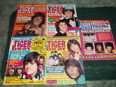 ♥ Tiger Beat Magazines 1970's ~  hadda have them, so you could tear out the full page photo of your 'crush' & thumbtack it to your bedroom wall!