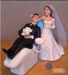 Dentist and Groom Cake Top