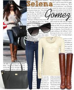 """Celebrity Style: Selena Gomez"" by straightuphustlergirl  liked on Polyvore"