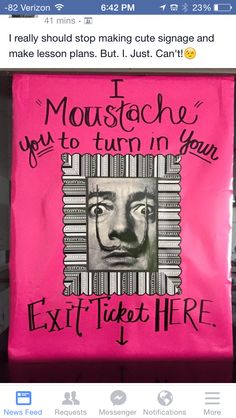 If I finally get it together for exit tickets, this is a great poster.