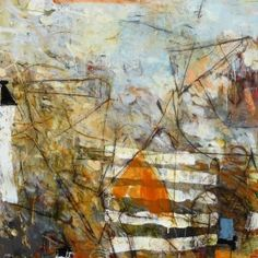 "Careful Now, Acrylic and Mixed Media on Canvas, 36"" x 36"", Krista Harris"
