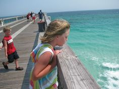Navarre Beach Fishing Pier -  Well worth the time!  (only costs 1 dollar per person!)