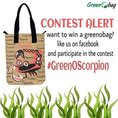 #contest #alert We are running a contest on #facebook, like our #GreenoBag page and participate in the contest