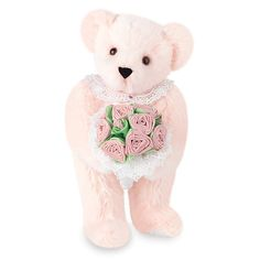 """15"""" Pink Rose Bouquet Bear from Vermont Teddy Bear. $59.99. #MothersDay"""