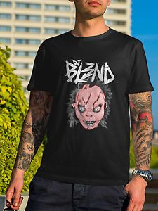 check it out DJ Bl3nd Tshirt Electro Dance Music Blend Mask Remix Dubstep Tee T-shirt S to XL