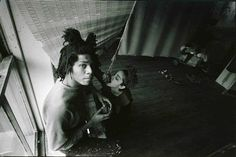 Jean-Michel Basquiat and Madonna dated just before she released Lucky Star!!