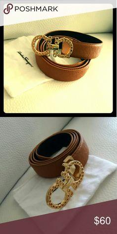 Nice belt size 32/44 New belt brown/gold Ferragamo Accessories Belts