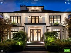 Architecture House Philippines Our Past Design Work - traditional - Exterior - Vancouver - the Airey Group White Exterior Houses, Dream House Exterior, Cafe Exterior, Layouts Casa, House Layouts, Dream Home Design, Modern House Design, Stommel Haus, Exterior Tradicional