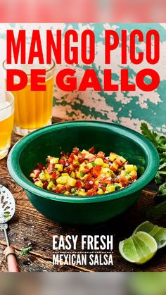 Mexican Food Recipes, Real Food Recipes, Cooking Recipes, Healthy Recipes, Vegetable Side Dishes, Vegetable Recipes, Appetizer Recipes, Appetizers, Mango Salsa Recipes