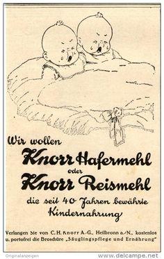 Original-Werbung/Inserat/ Anzeige 1926 : KNORR HAFERMEHL ca. 90 x 135 mm